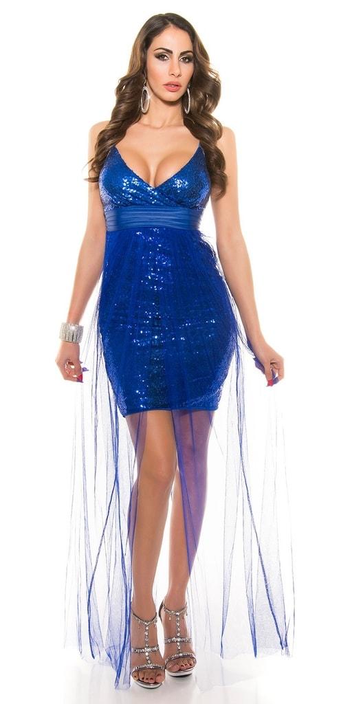 Koucla Koktejlové šaty modré