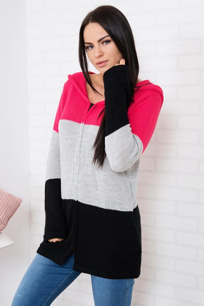 Kesi Pletený svetr s kapucí