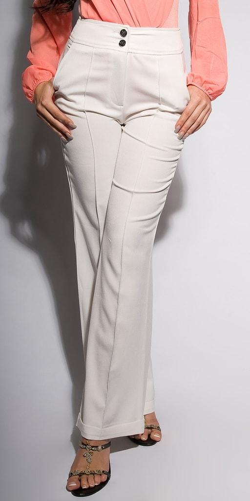Koucla Dámské kalhoty-bílé