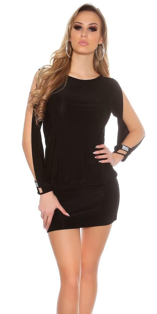 Koucla Černé sexy párty šaty