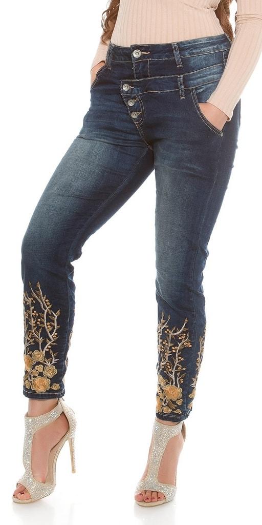 Koucla Dámské jeans pro plnoštíhlé
