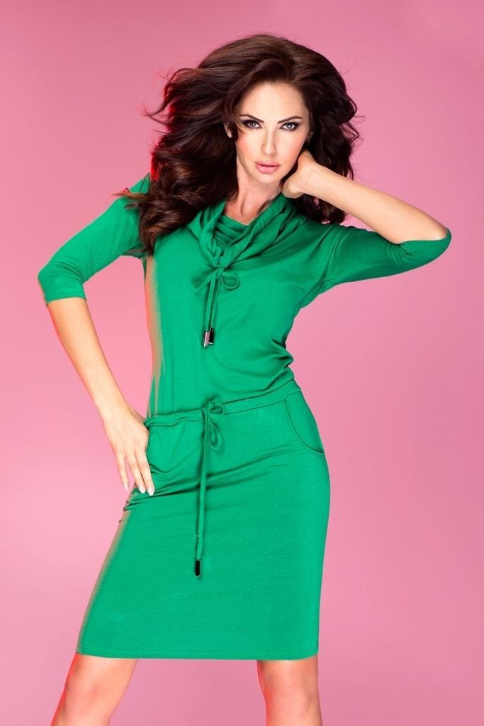 Numoco Dámské šaty zelené 44-5