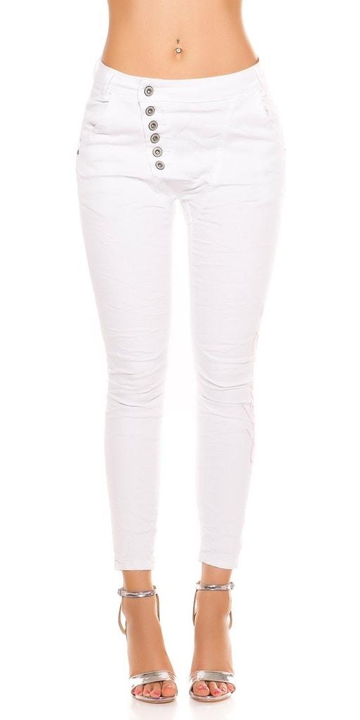 Koucla Bílé úzké džíny
