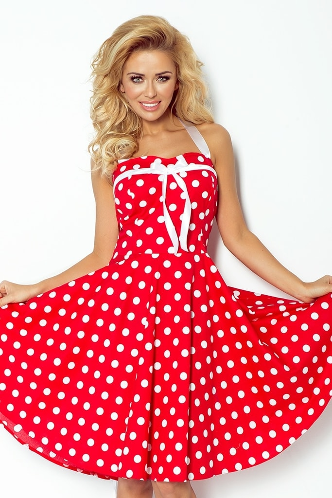 Numoco Retro šaty s puntíky 30-14