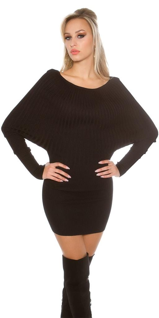 Koucla Černé úpletové šaty