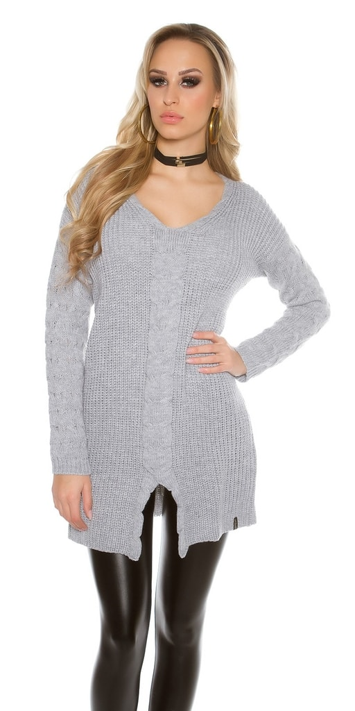 Koucla Delší pletený svetr