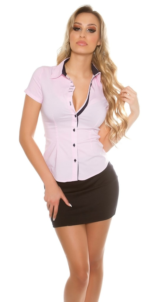 Koucla Dívčí růžová košile