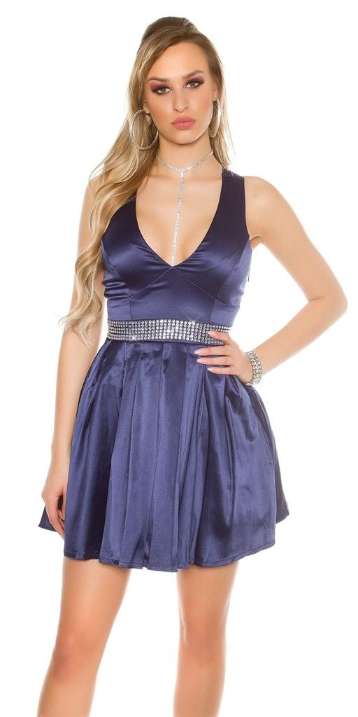 Koucla Dámské koktejlové šaty-modré