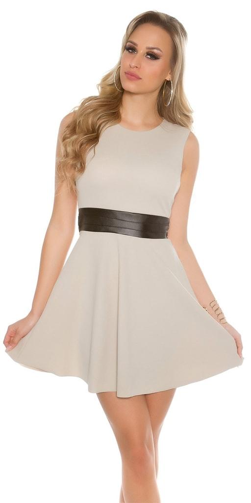 Koucla Béžové dámské šaty