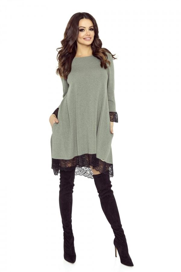 Bergamo Dámské šaty s krajkou