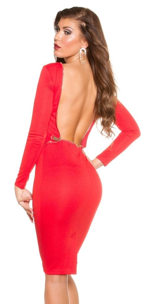 Koucla Červené společenské šaty