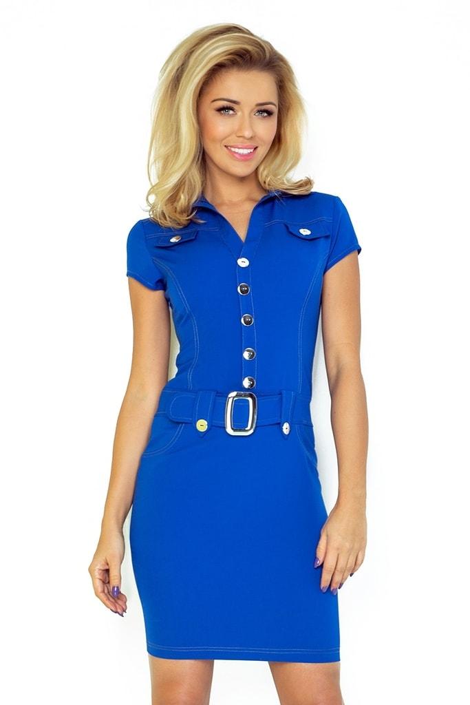 Numoco Modré dámské šaty 142-3