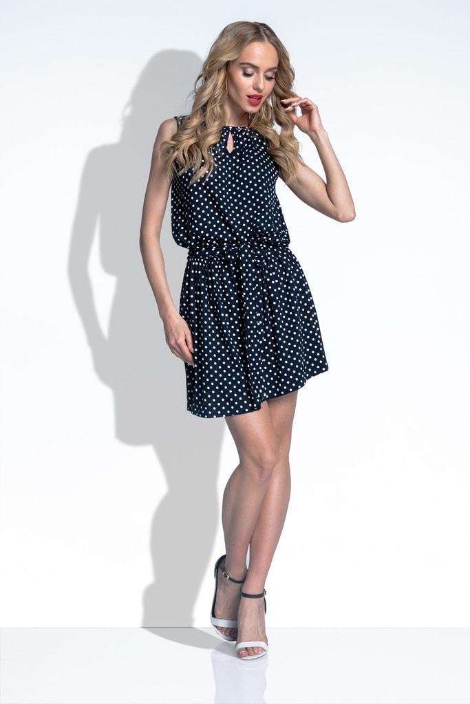 Fobya Letní šaty s puntíky