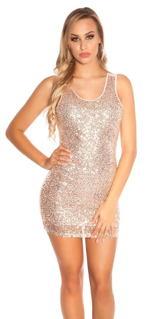 Koucla Party mini šaty s flitry