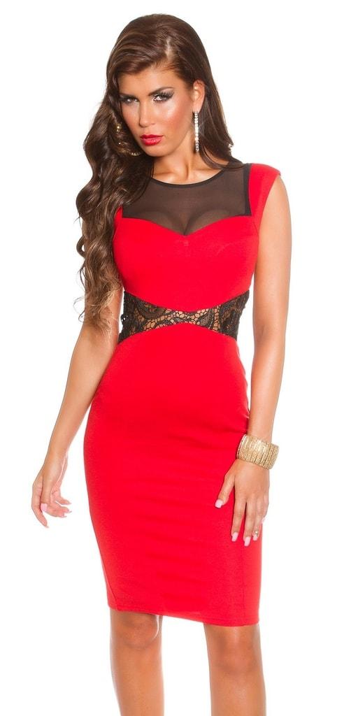 Koucla Koktejlové šaty - červené
