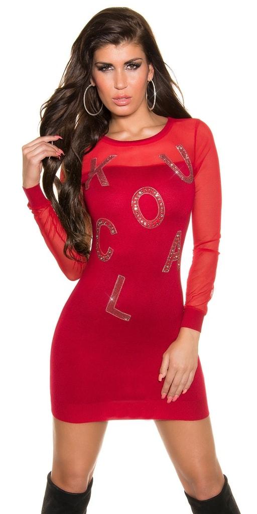Koucla Úpletové dámské sexy šaty