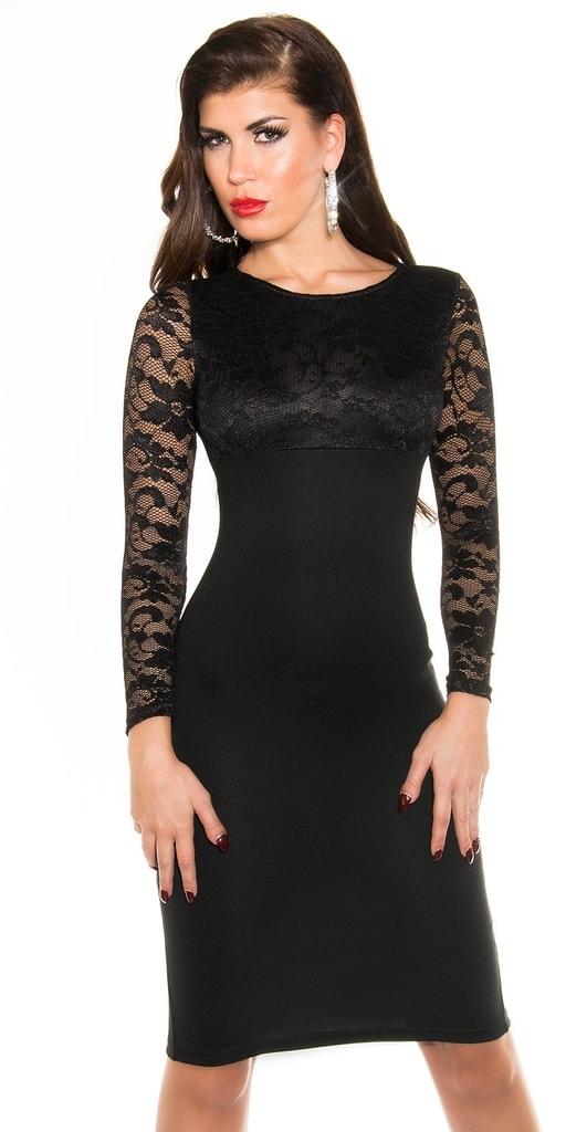 Koucla Černé dámské šaty