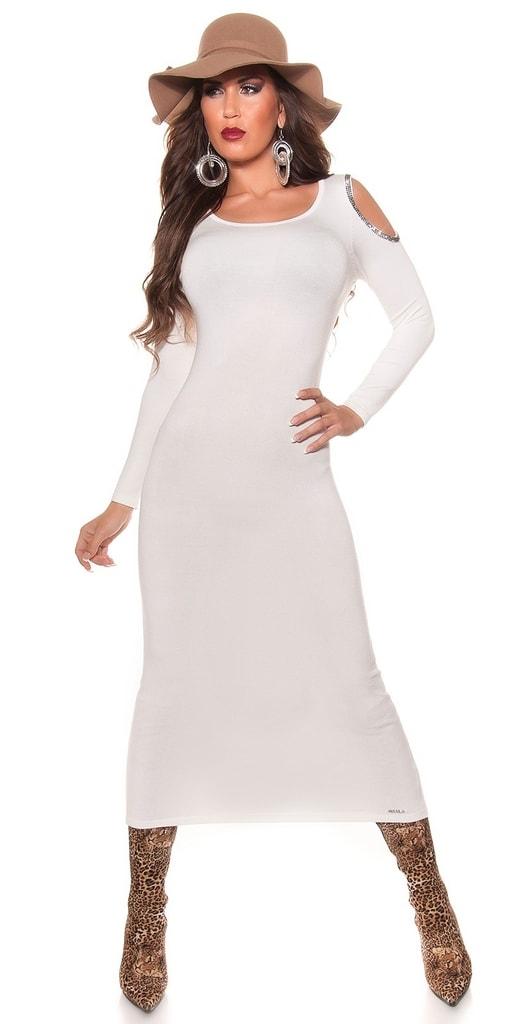 Koucla Úpletové dlouhé šaty