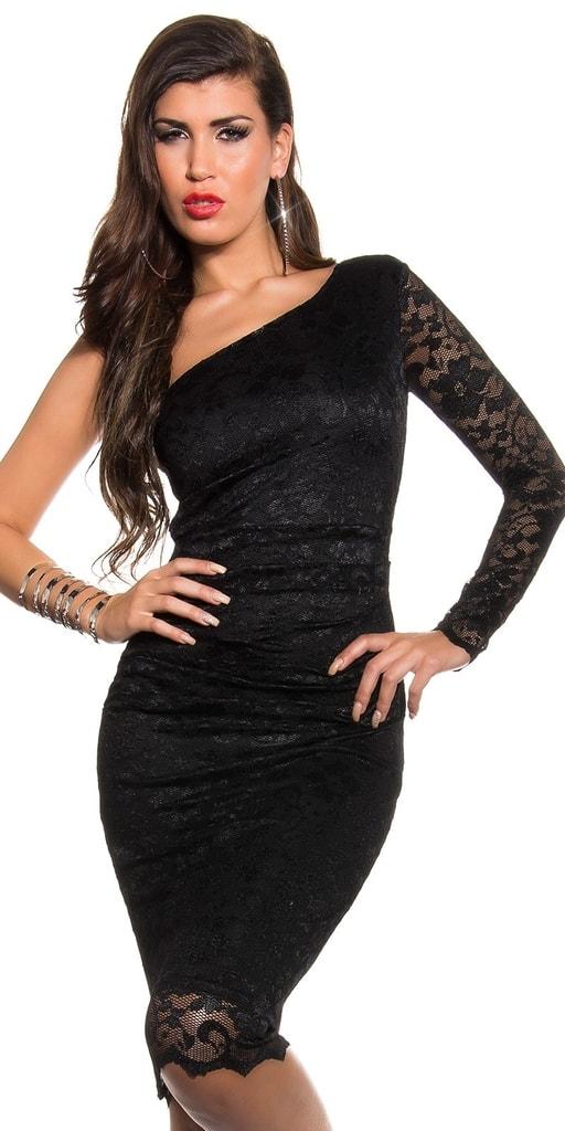 Koucla Krajkové šaty černé