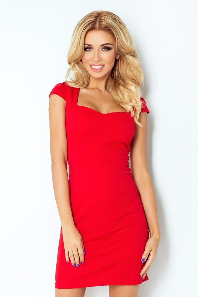 Numoco Dámské šaty červené 118-2