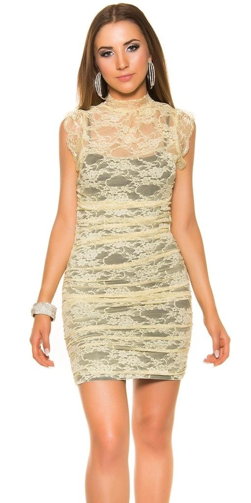 Koucla Krajkové večerní šaty