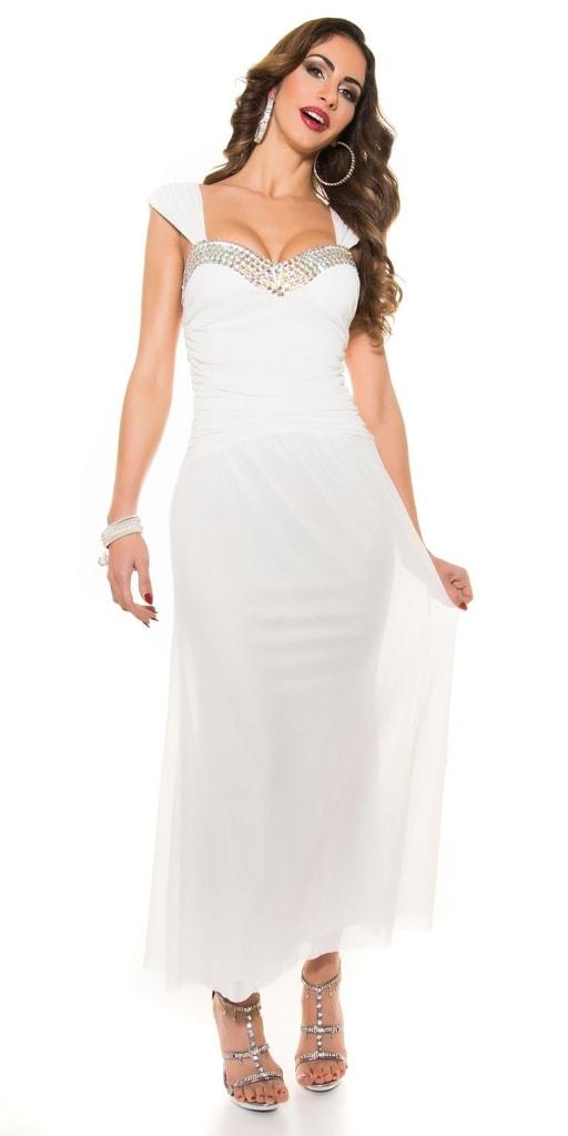 Koucla Dlouhé večerní šaty - bílé