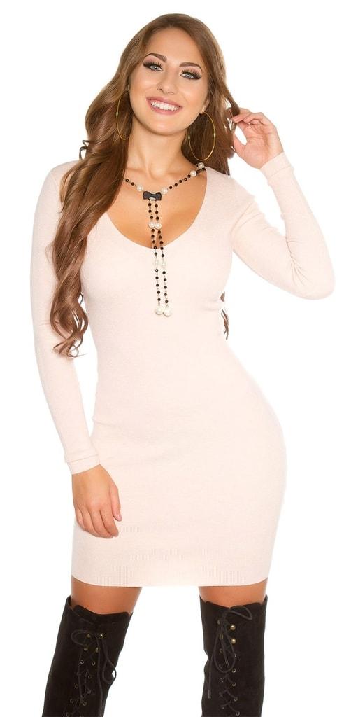 Koucla Pletené elegantní šaty