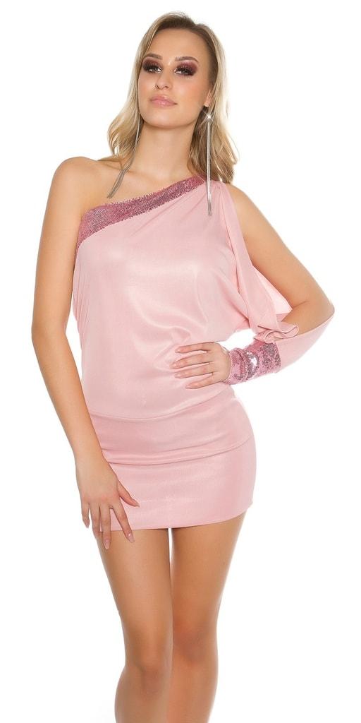 Koucla Dámské mini šaty na jedno rameno