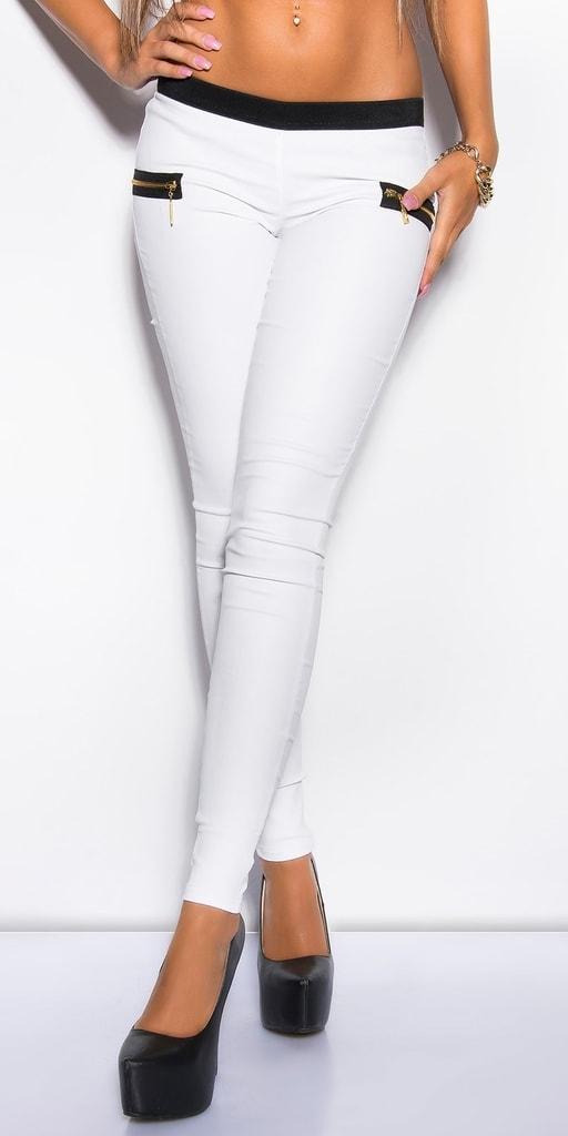 Koucla Dámské bílé kalhoty