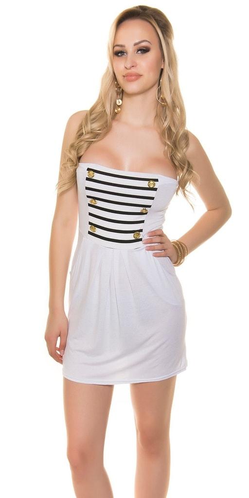 Koucla Bílé mini šaty