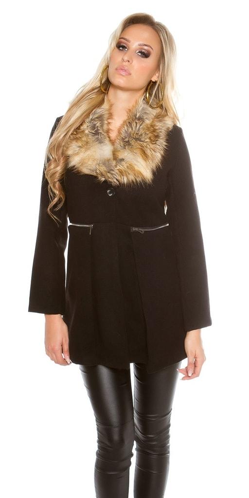 Koucla Černý dámský kabát