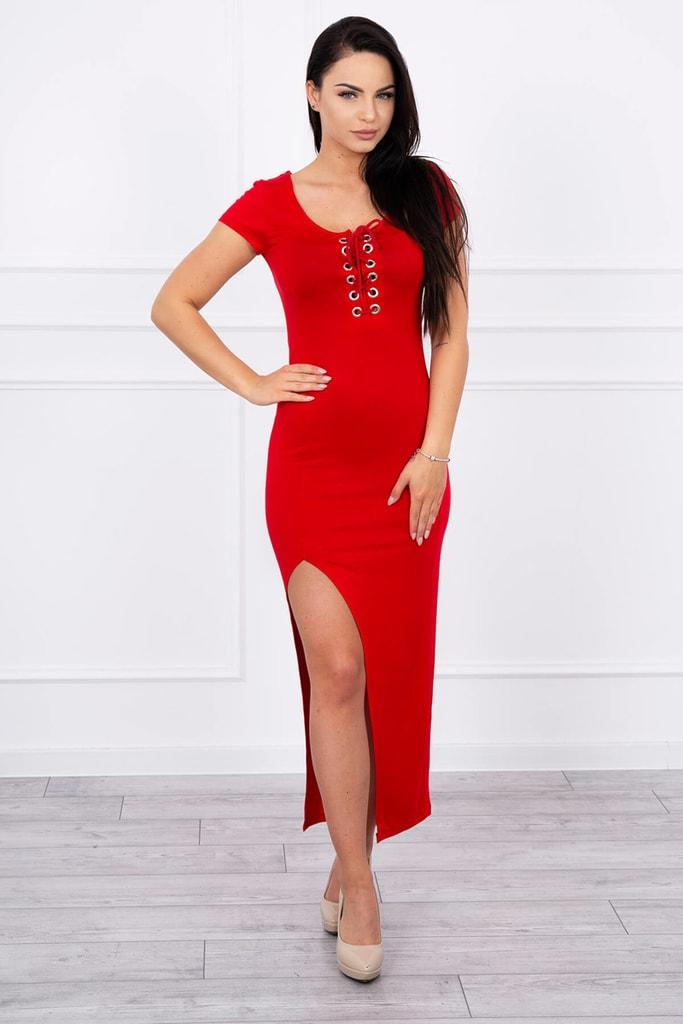 Kesi Červené dlouhé šaty