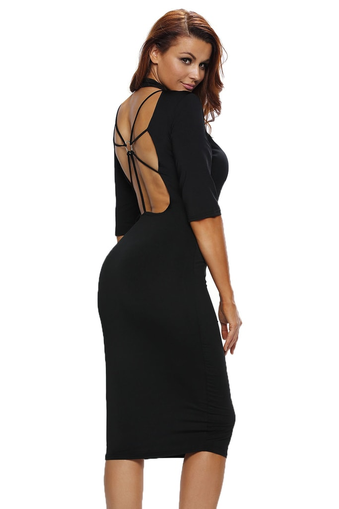 DAMSON Černé elegantní šaty