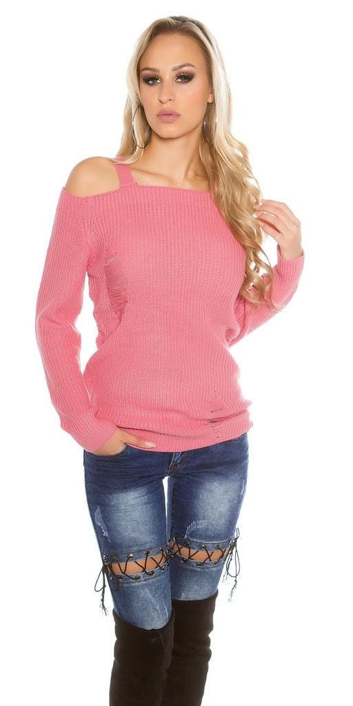 Koucla Růžový dámský svetr
