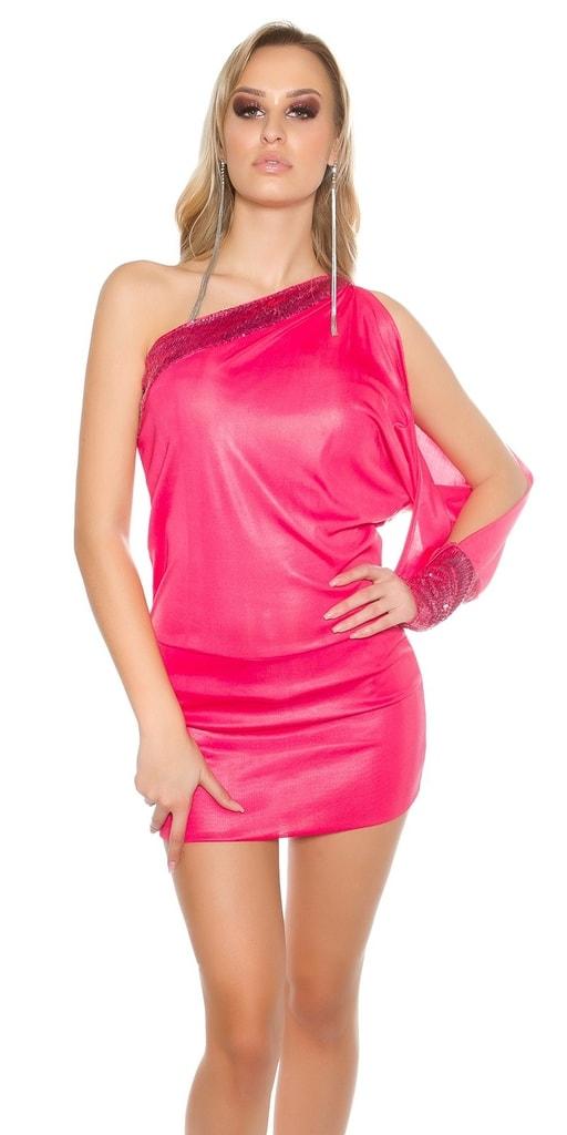 Koucla Sexy mini šaty na jedno rameno