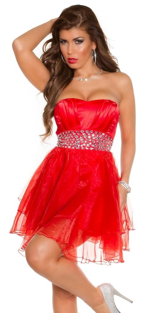 Koucla Plesové šaty krátké červené