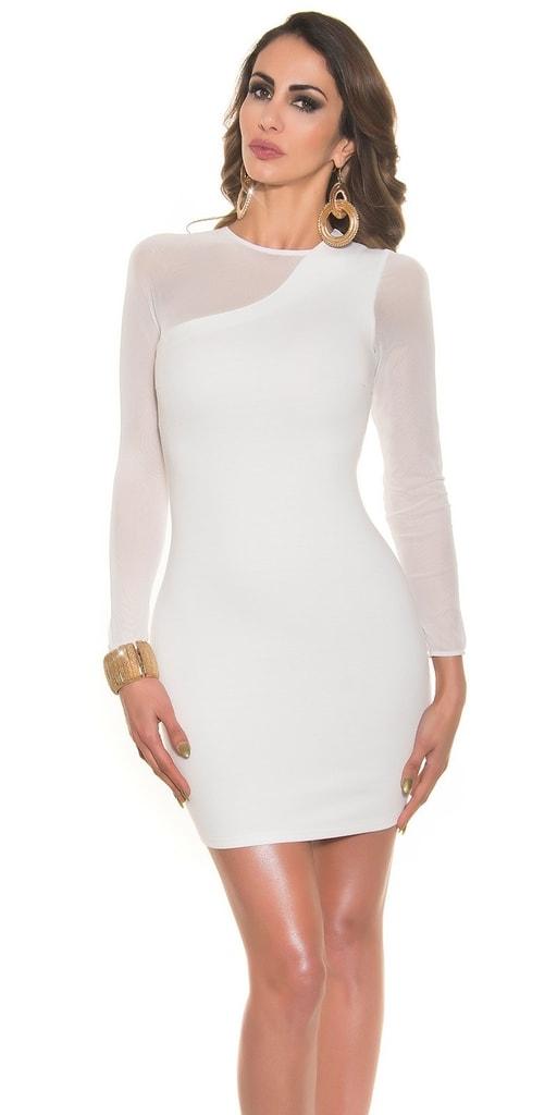 Koucla Bílé dámské elegantní šaty