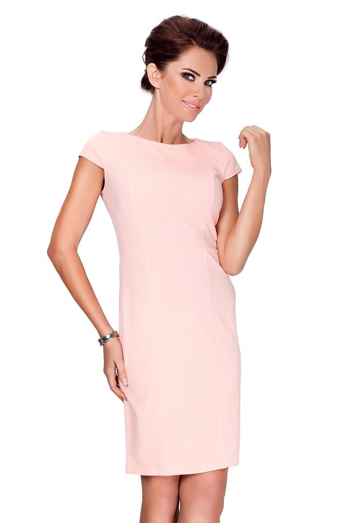 Numoco Elegantní šaty s krátkými rukávy 37-1