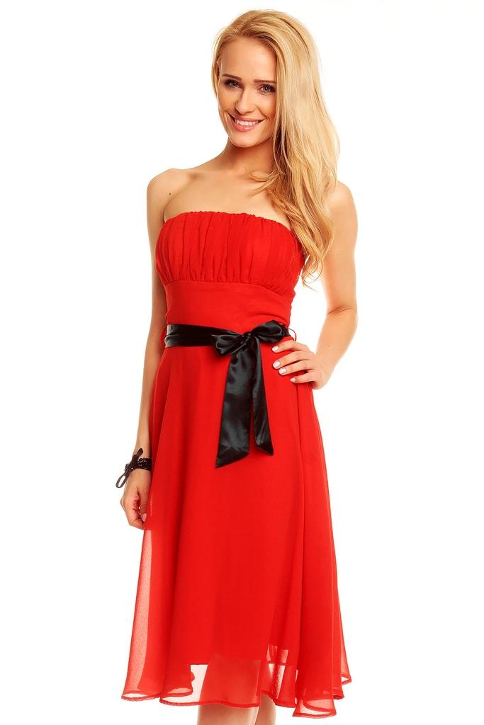 Mayaadi Červené elegantní šaty