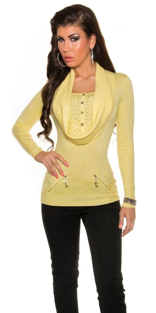 Koucla Žlutý dámský svetr
