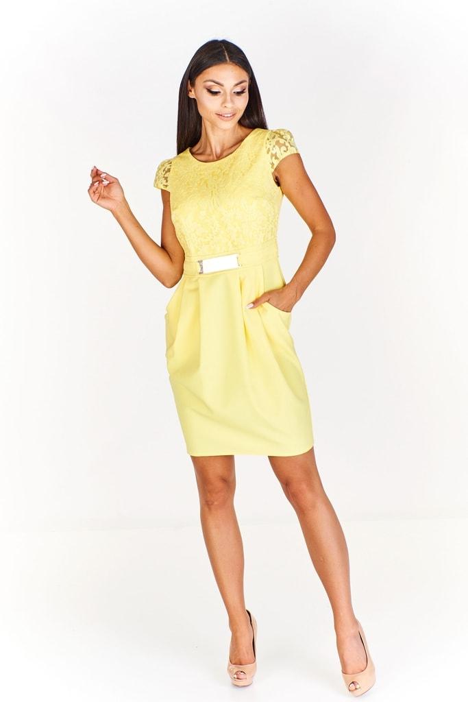 Ptakmoda Pouzdrové šaty s krajkou 9504a59b35