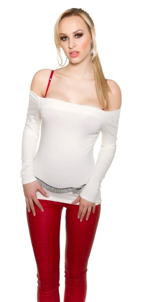 Koucla Bílé dámské tričko