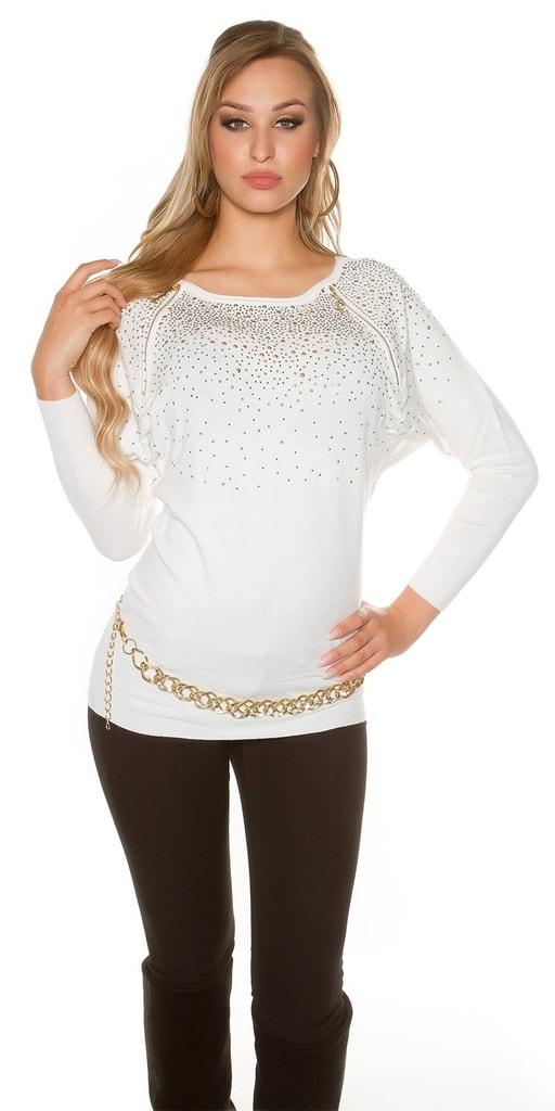 Koucla Dámský pulovr s kamínky