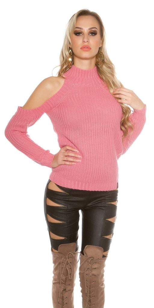 Koucla Dívčí růžový svetr