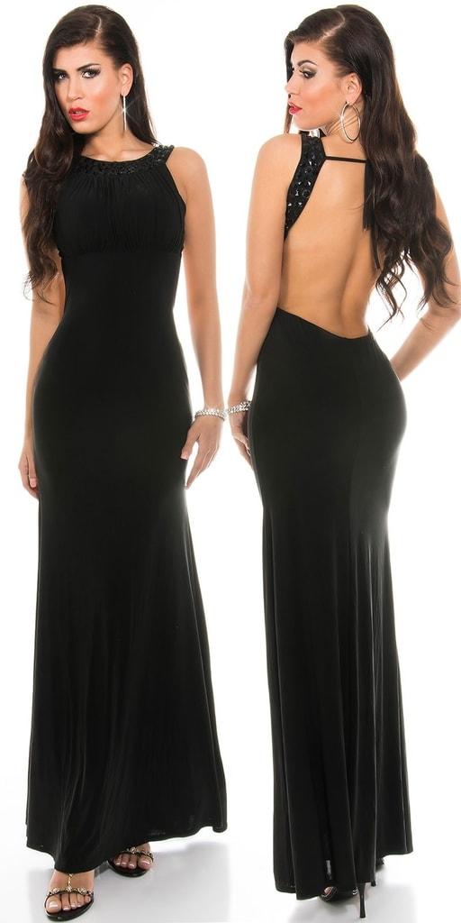 Koucla Černé dlouhé šaty
