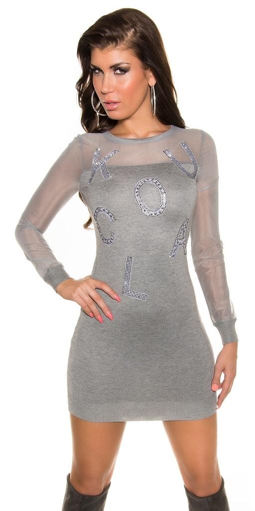 Sexy dámské úpletové šaty