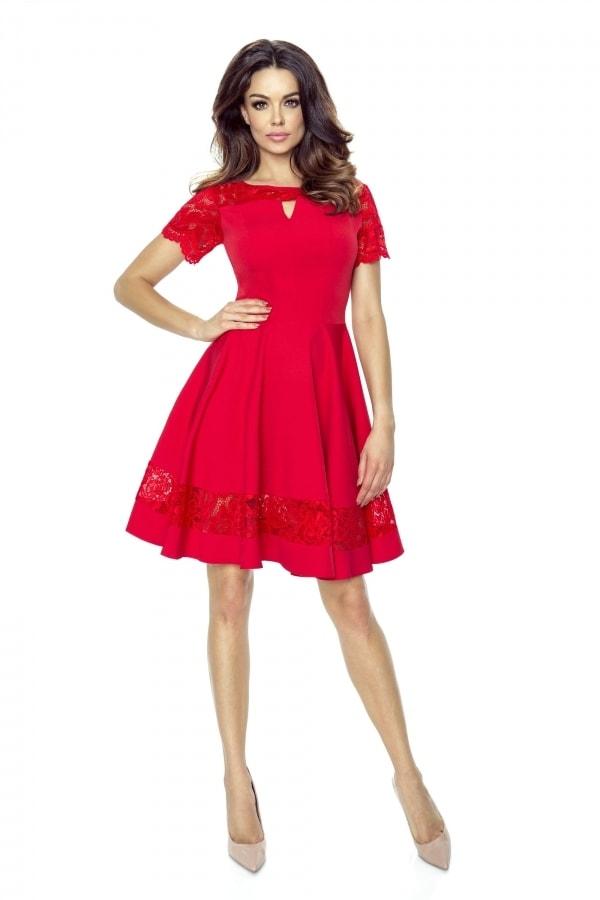 Bergamo Červené koktejlové šaty - II. jakost deaefbefc4