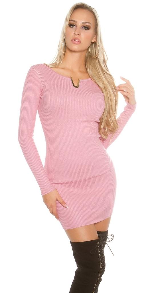Koucla Elegantní mini šaty z úpletu