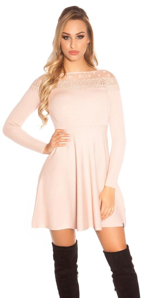 Koucla Elegantní úpletové šaty