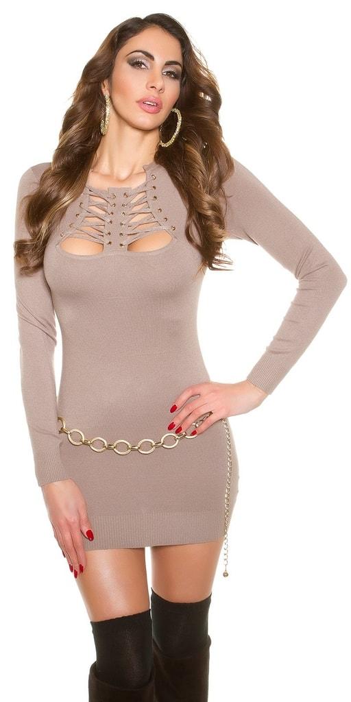 Koucla Krátké úpletové šaty